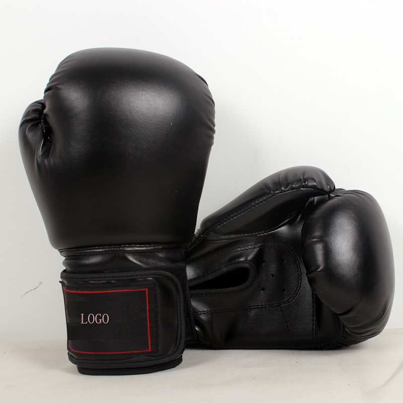 Custom professional adult game oem logo printed combat leather boxing gloves