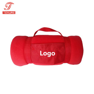 High Quality customized micro plush fleece blanket with logo