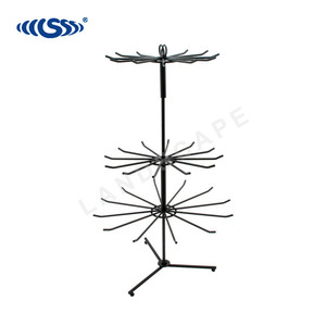 Excellent quality 3 levels metal display stand rotating/counter metal wire rack for Hanging Goods