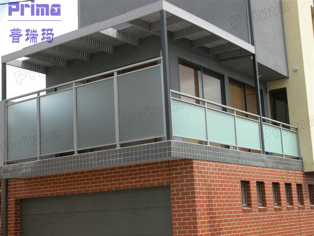 Customized glass iron balcony stair railing handrail for Window railing design