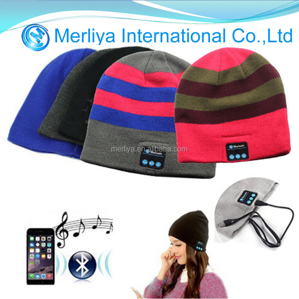 Warm Soft Beanie Hat Cap With Wireless Bluetooth Music Headphone Headset speaker head scraft