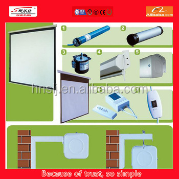 2015 the newest style electric floor projector screen 16:9 100""
