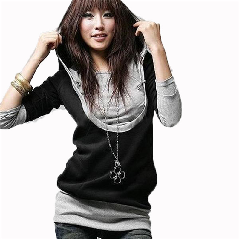 New 2016 Fashion Korean Style Women Long Sleeve Hooded Casual Hoodies Sweatshirt Blouse Tops Outerwear S