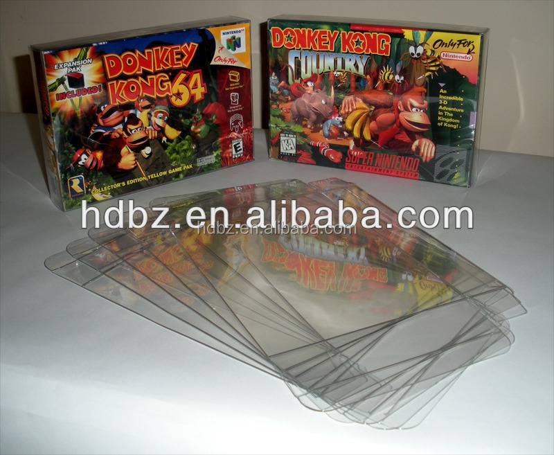 China Supplier Pet Material Clear Plastic Box Protectors For N64 ...