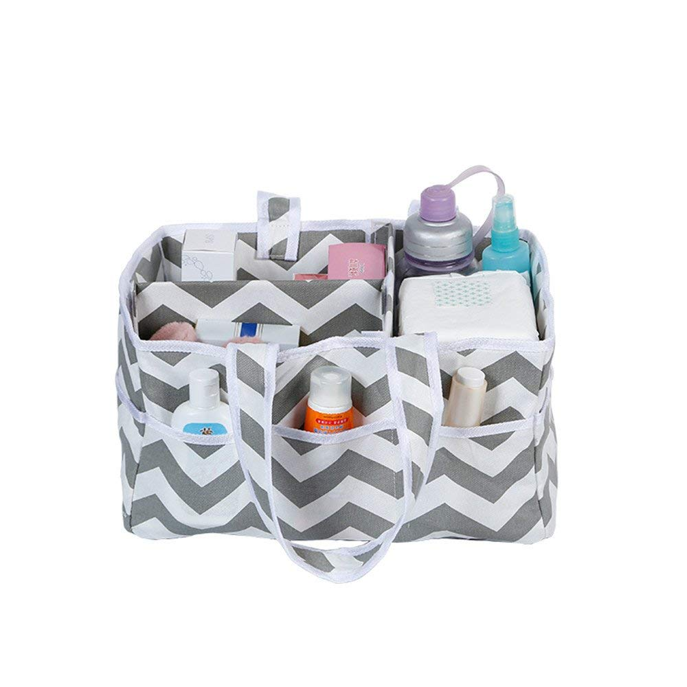 Sammid Baby Diaper Caddy Organizer,Portable Car Storage Basket Nursery Storage Bag for Diapers and Baby Wipes