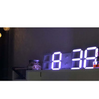 Display Brightness Levels Watches Nightlight S 3D LED Wall Clock Display Brightness Levels Watches Nightlight Snooze Home