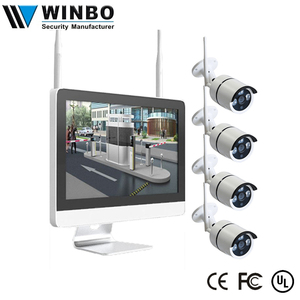 Plug And Play P2P Remote IP Pro Wifi Camera 12V 15inch LCD 4CH Wif NVR Kit