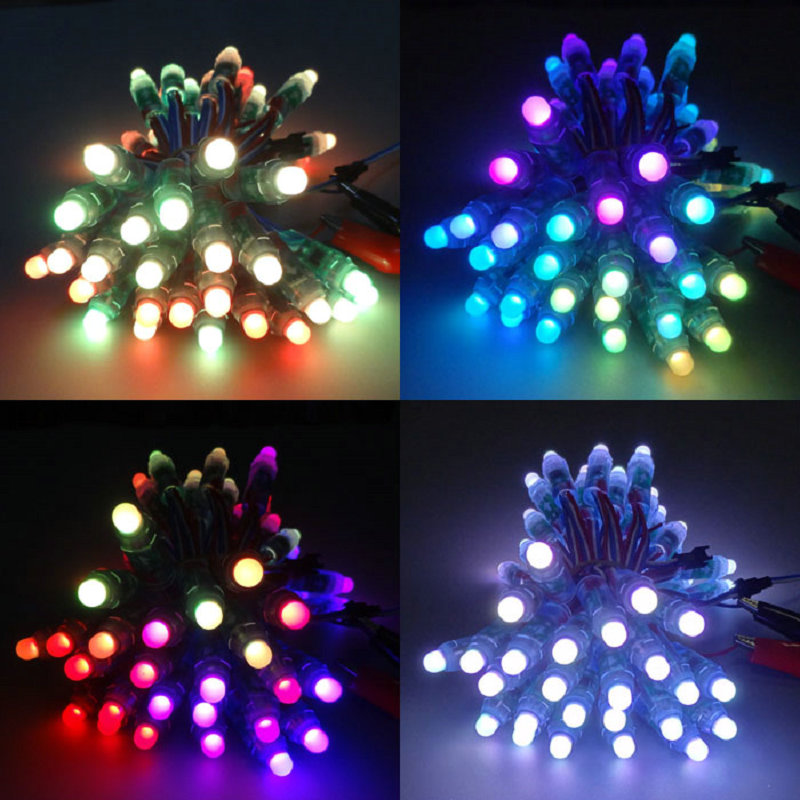 Video Outdoor Dinding 1903 IC Lantai Dansa Dot RGB 12 Mm Ws2811 Lampu Pixel LED