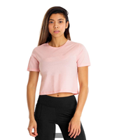 Plain slim fit cropped t -shirt for women