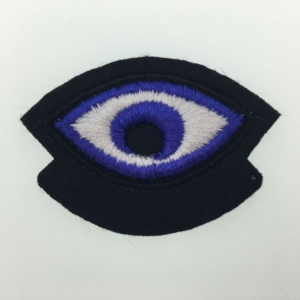 Hot Selling Custom Logo Eye Embroidery Label Apparel Felt Patch