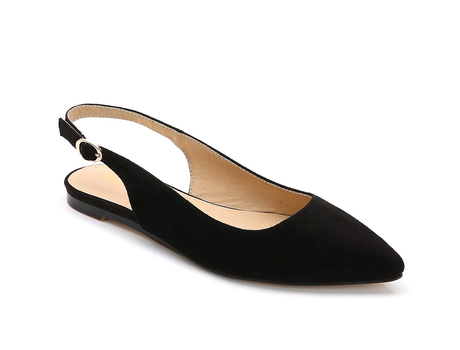 ComeShun Womens Shoes Comfort Ankle Strap Pointed Toe Flats Dress Wedding Bridal Pumps