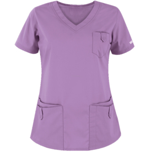 Short Sleeve V-Neck Dental Clinic Scrubs Uniforms for Spa Salon