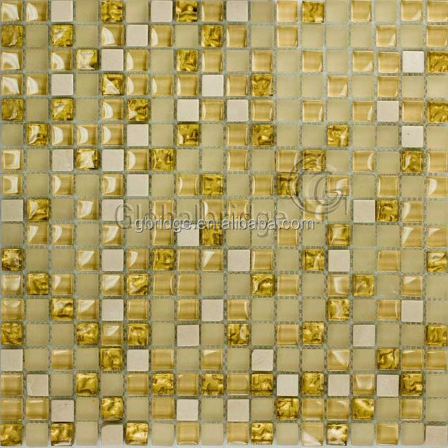 gold stone and crystal mosaic