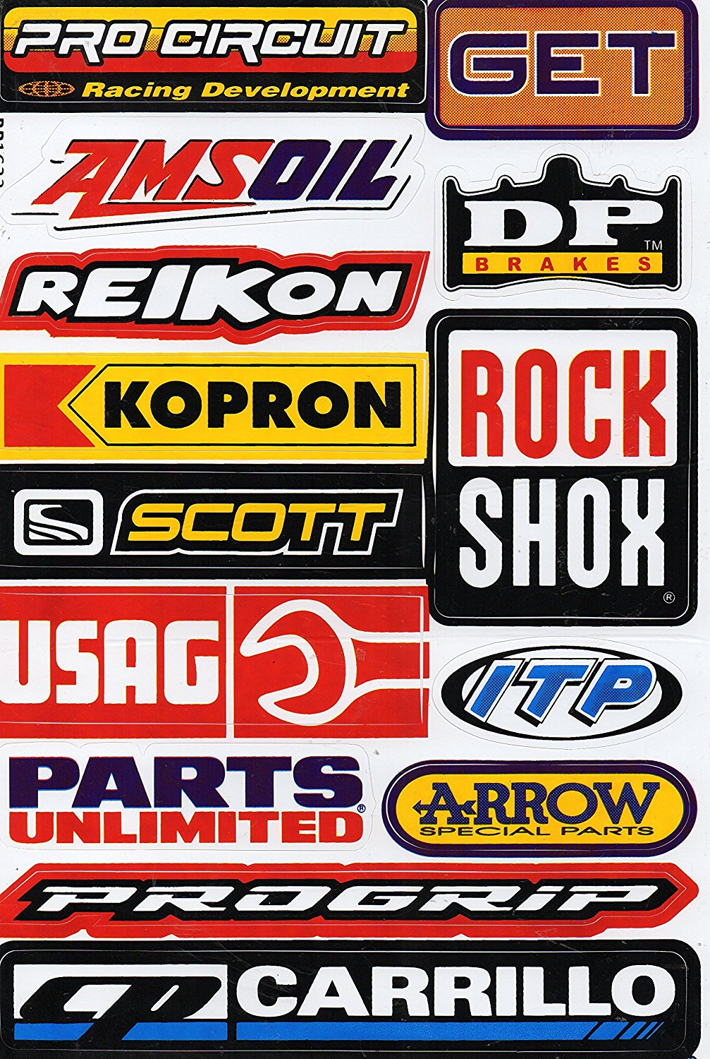 27 x 18 cm for Car or Motorbike Sponsor Racing Decal Sticker Tuning Racing Sheet Size