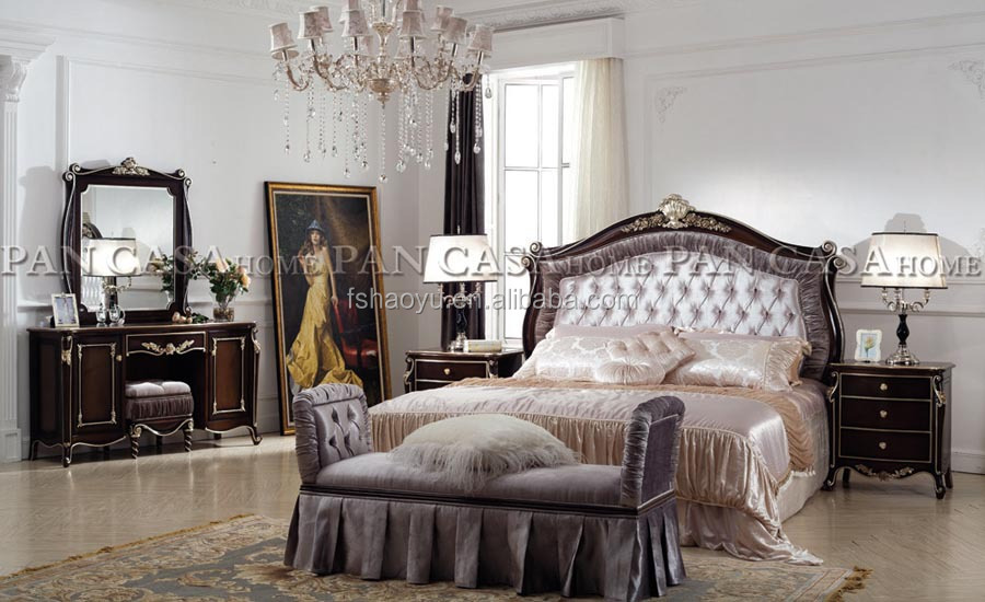 royal style bed/spanish style beds/french provincial bedroom ...