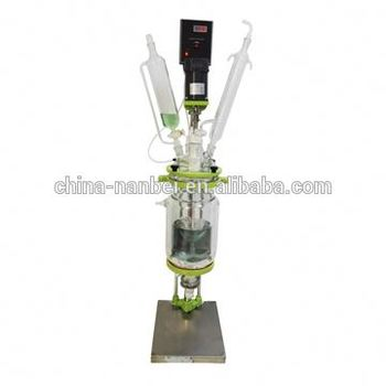 1L 2L 3L 5L double layer ex-proof jacketed mini glass reactor