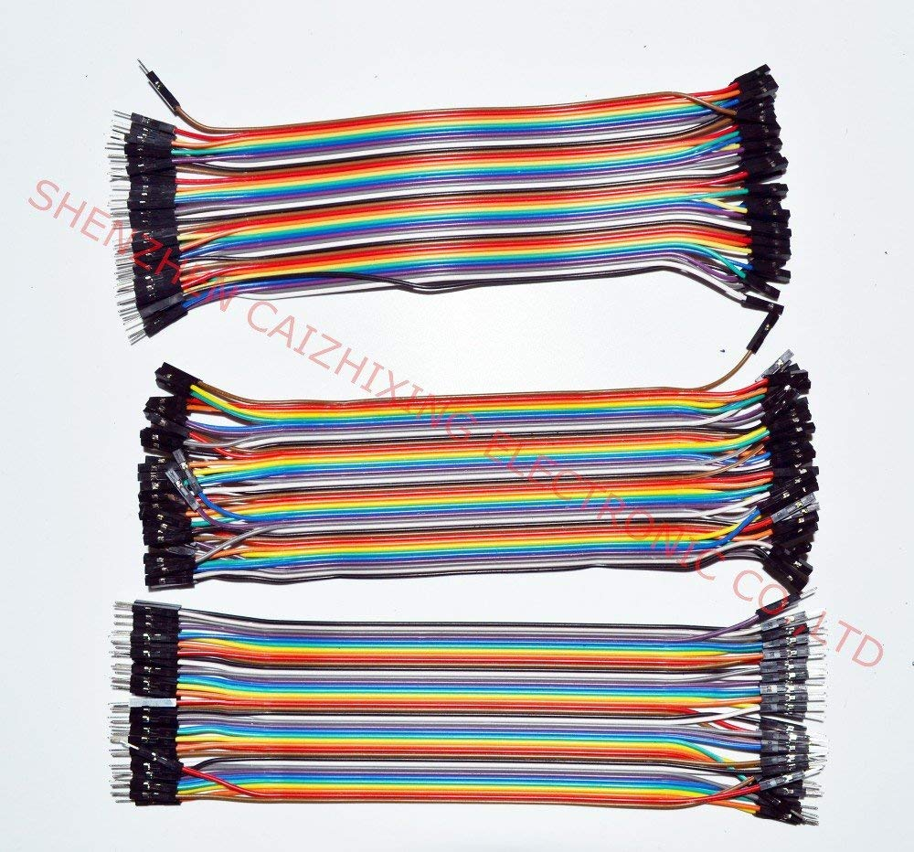 Coolbeauty Dupont line 120pcs 20cm male to male + male to female and female to female jumper wire Dupont cable