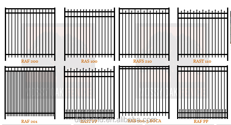 Steel Picket Fence,Different Types Picket Fences,Indoor