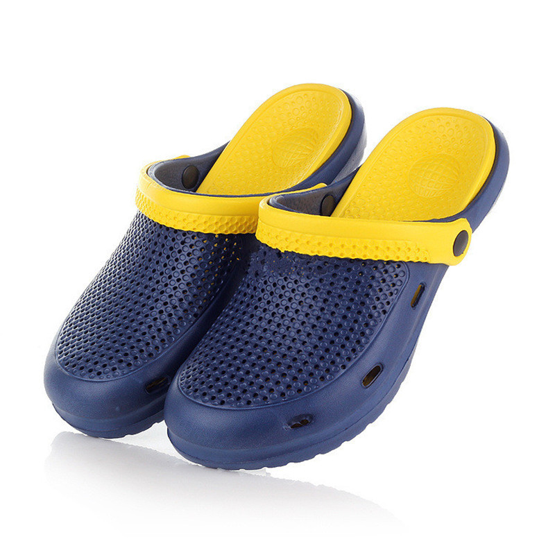 ae68d0c31a199b Get Quotations · 2015 New Men Summer hole shoes clogs cut-out garden shoes  EVA beach sandals and