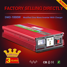 Innovative 1000w 2000w 12v 24v dc 220ac rechargeable power inverter with battery charge