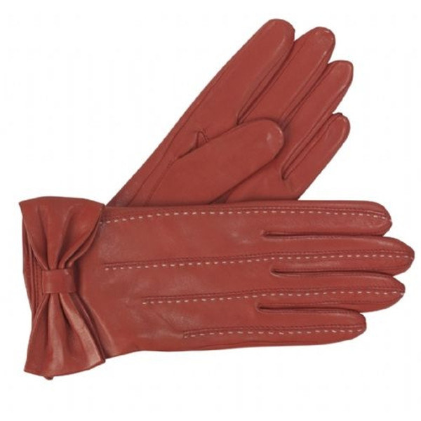 hand gloves manufactures in China ladies winter red leather glove