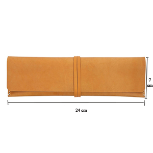 Simple Genuine Leather Roll Up Case Leather Watch Accessories Pouch