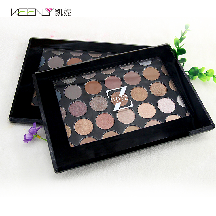 35 kleur eye palette oogschaduw palet geen merk groothandel make papier eyeshadow palette box private label