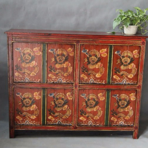 Chinese Reproduction Furniture Tibetan Cabinet