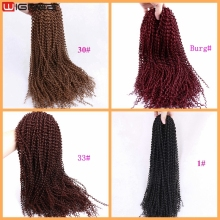Senegalese Curly Twist Braids Hair For African American Women Synthetic Crochet Braiding Hair Vendors In China