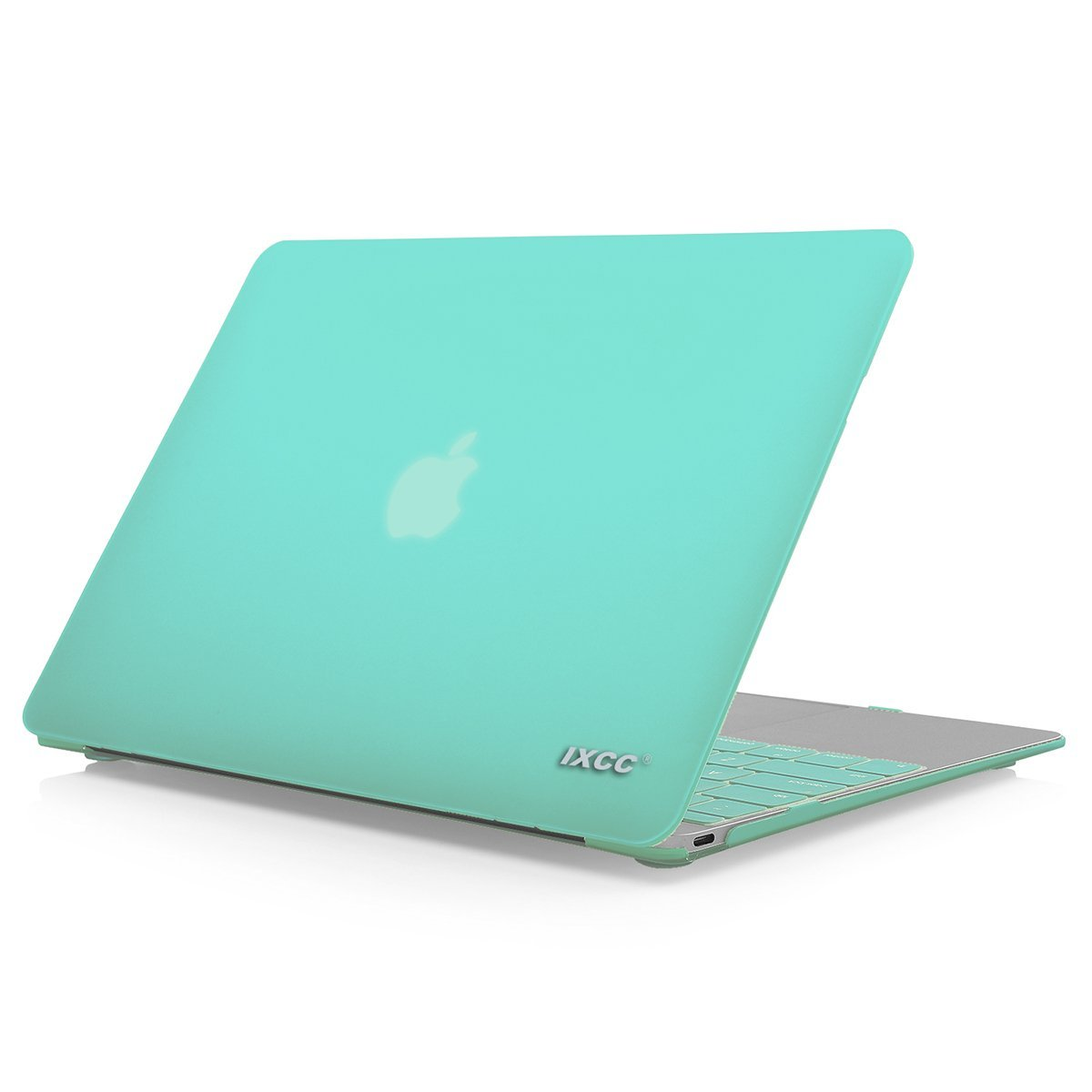 iXCC Apple MacBook 12-inch with Retina Display Rubberized Hard Shell Protective Case with Keyboard Cover [Model: A1534]- Green