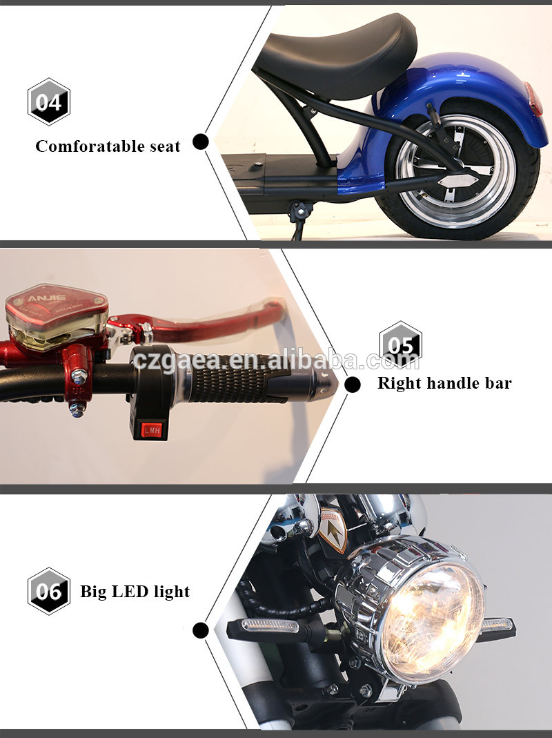 Gaea cheap adult 2000w hub motor electric motorcycle scooter for sale