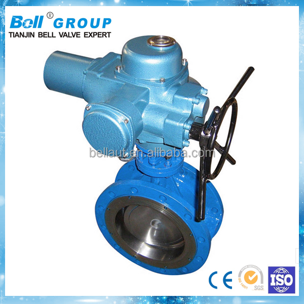 PN16 24 Inch Electric Cast Iron Flanged Butterfly Valve