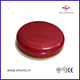 Wide Mouth Dome Smooth Plastic Lid for Jar with Golden Edge