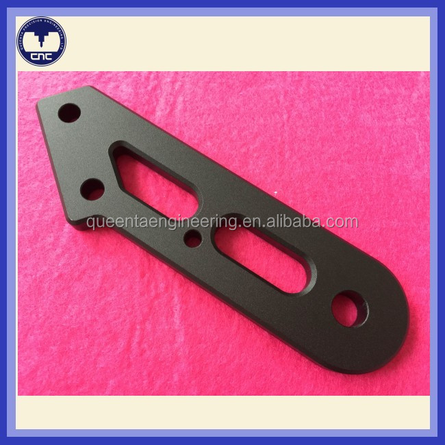 China CNC machine shop black anodize aluminum machining part