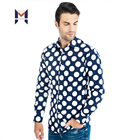 Shirts Men For Casual Mens Slim T 100% Cotton Custom Print Dress Men's Long Sleeve Floral New Model Fit Printed Beach Shirt