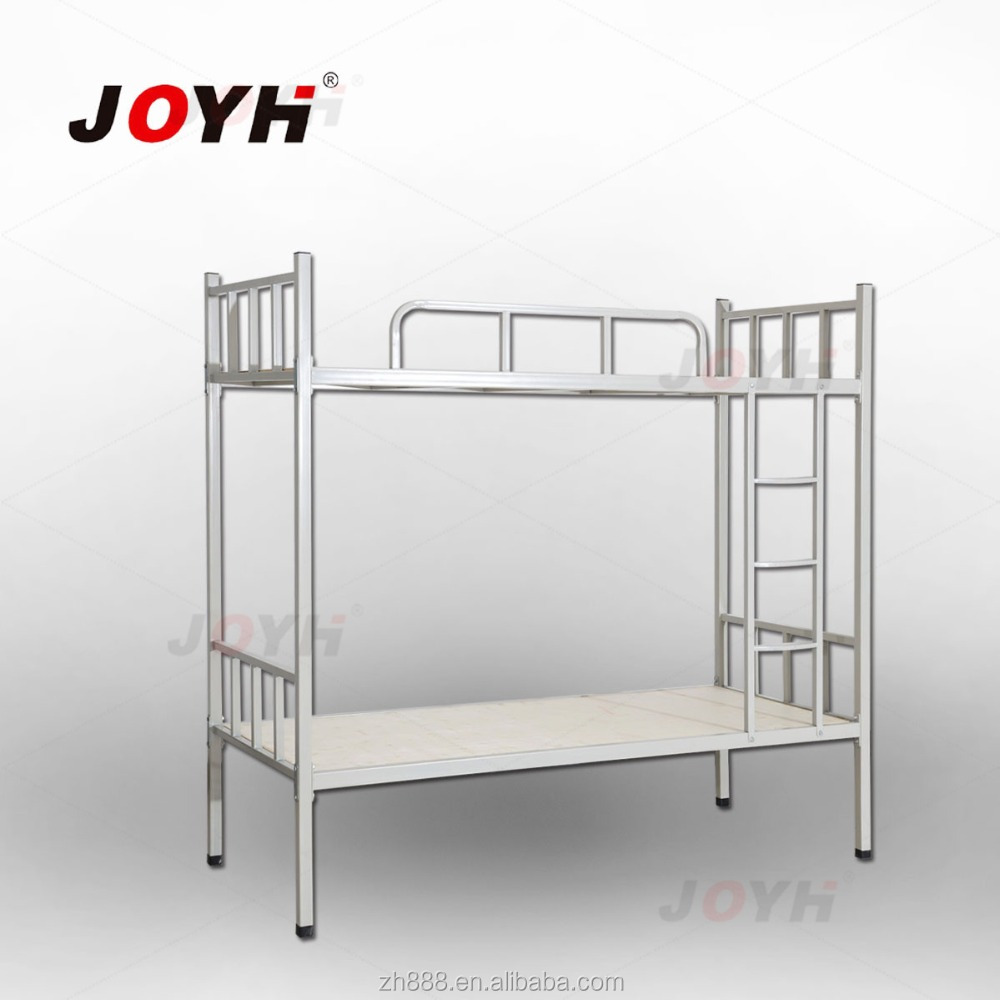 School Furniture Bunk Bed White Double Steel Bed for Dorm