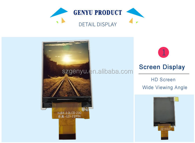 2.0 tft lcd display with touch panel