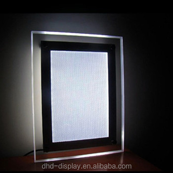 Led Sheet A4 Picture Frames Led Backlit Crystal Light Frame Light ...