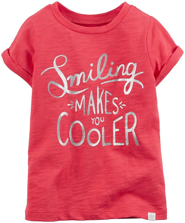 fed93b16c85 Get Quotations · Carter s Little Girls  Slogan Tee (Toddler Kid)