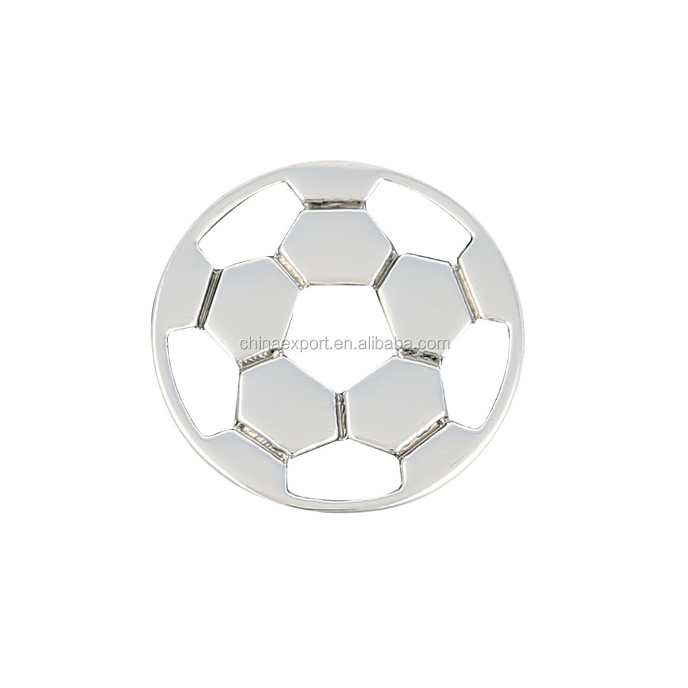 Silver Color Soccer Bracelet Charms For Sports Enthusiast