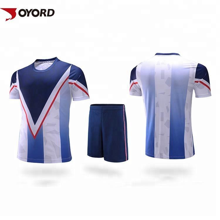Wholesale Soccer Wear OEM Cheap Soccer Jerseys DIY Printing Sublimation Football Jersey