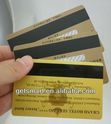 Latest Beautiful Card!! Best Quality SGS Approval Gold Silk-Screen Prnting Magnetic Strip Plastic Member Cards Printing