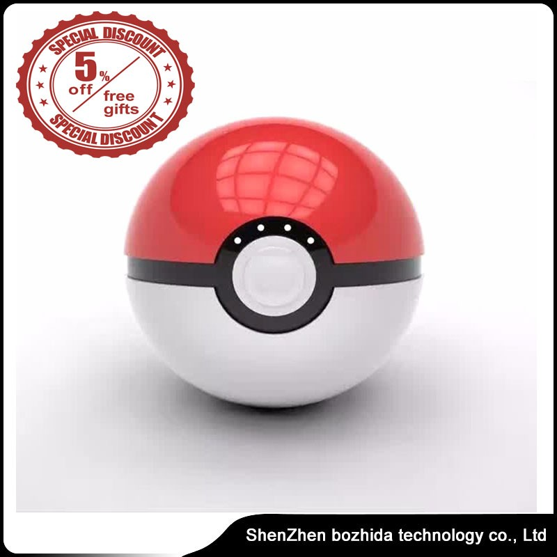 Best Selling Customized 12000mah Pokemon Go Poke Ball Power Bank