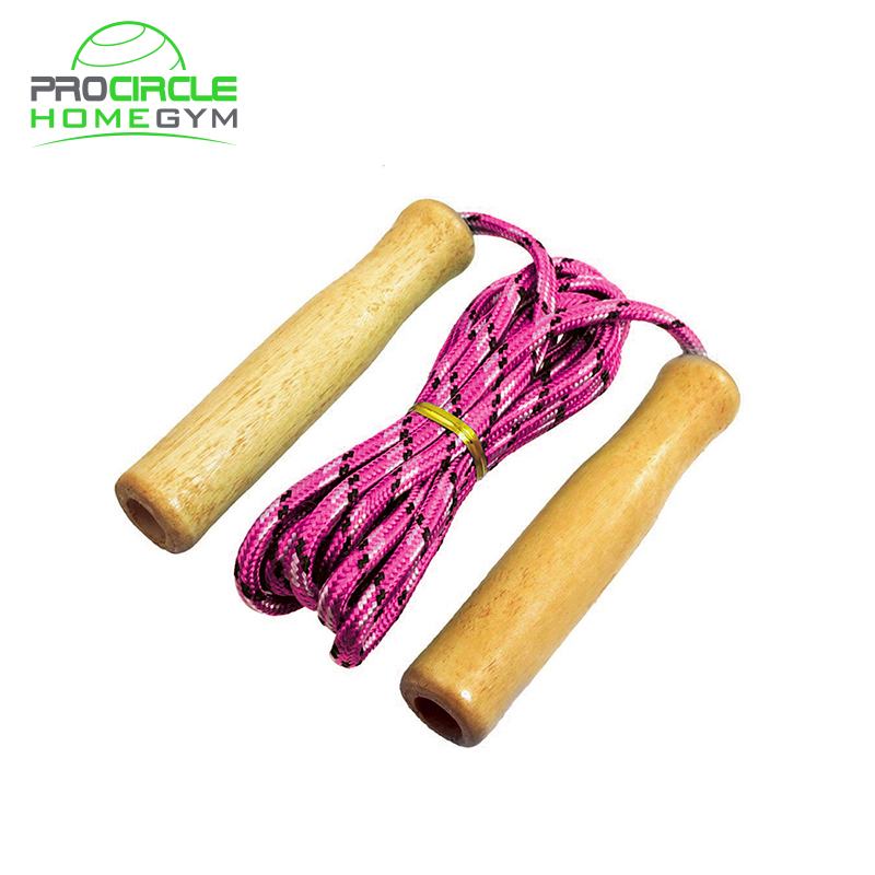 2.7m Wooden Handle Skipping Rope Great For Active Kid Classics Assorted Colours