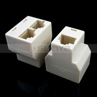RJ45 jack / RJ45 modular plug / 8 pin RJ45 plug, it can not support two computers to the Internet