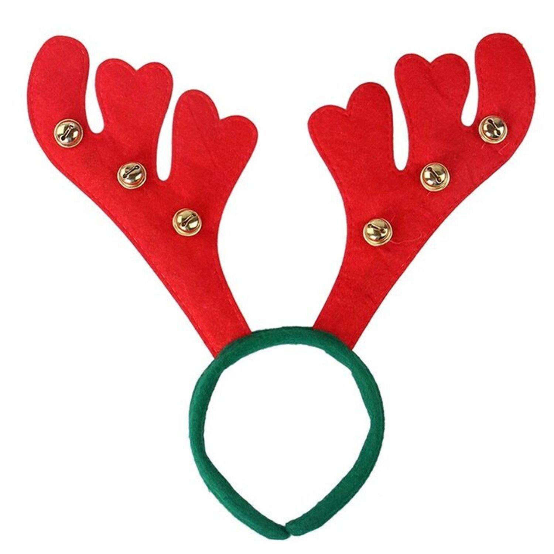 Christmas Reindeer Headband, KAMII Christmas & Holiday Party Reindeer Antler Headband (Big Bell 1Pc)