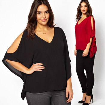 6XL Plus Size Fashion Cold Exposed Shoulder Batwing Dress Top Blouses, View  Batwing Dress, TINGYU Product Details from Hangzhou Tingyu Textile Co., ...