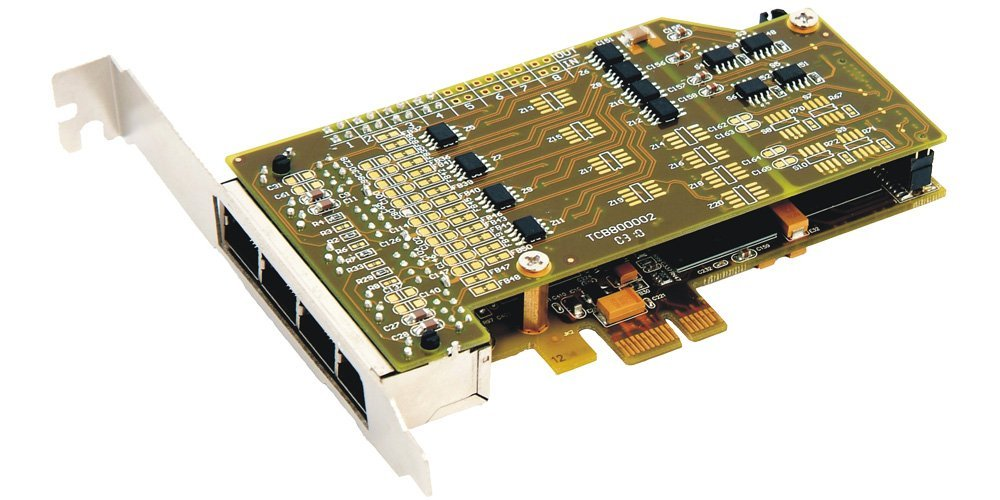 Synway TEJ801E Eight Spans Digital T1/E1/J1 Interface Card & Asterisk Interoperable & PCIe Slot & HW EC