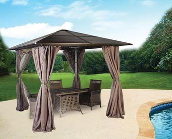 Outdoor Aluminium Gazebo Garden Patio Pergola Sun Shade Durable Sturdy Permanent
