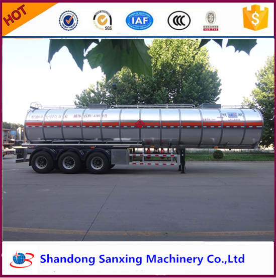 Minghang brand china supplier air suspension 3alxe aluminum tanker trailer empty weight 7T oil fuel palm petrol Shandong
